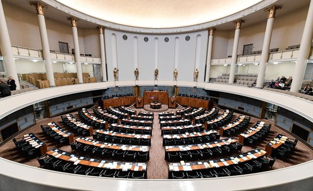 Täysistunto jatkui kello 3.51 asti. Arkistokuva.