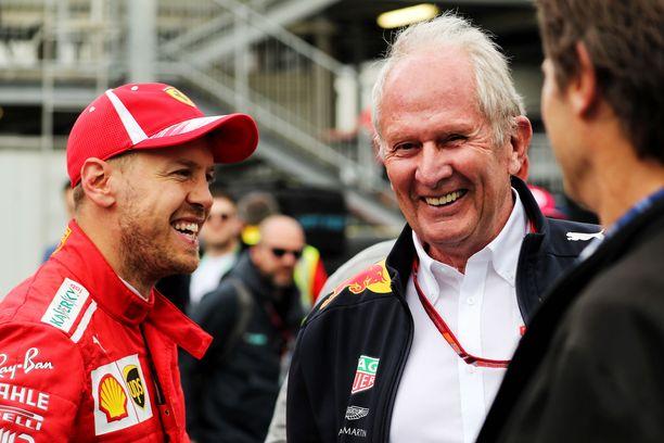 Sebastian Vettel on säilyttänyt hyvät suhteet entiseen työnantajansa leiriin. Helmut Markon kanssa ajatuksia vaihdetaan lähes joka kisaviikonloppu.