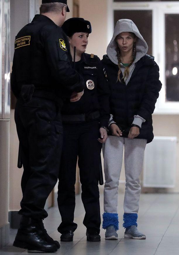 Anastasia Vashukevitsh pidätettiin hänen saavuttuaan Moskovaan viime viikolla.