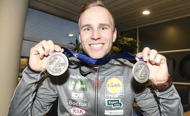 Mika Poutala palasi vuoden alussa Venäjältä kahden EM-hopean kanssa.
