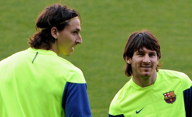 Tältä näyttivät Zlatan ja Leo Barcelonassa vuonna 2010.