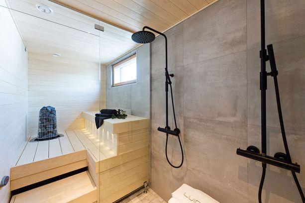 Solid House Kodit -kohteen erikoinen kiuas kiinnittää huomion.