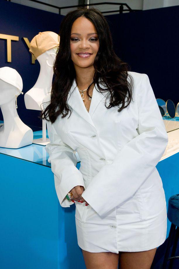 Rihanna  Fentyn lanseerauksessa Pariisissa.
