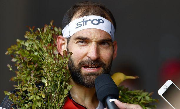 Thierry Gueorgiou otti jo uransa kahdeksannen keskimatkan maailmanmestaruuden.
