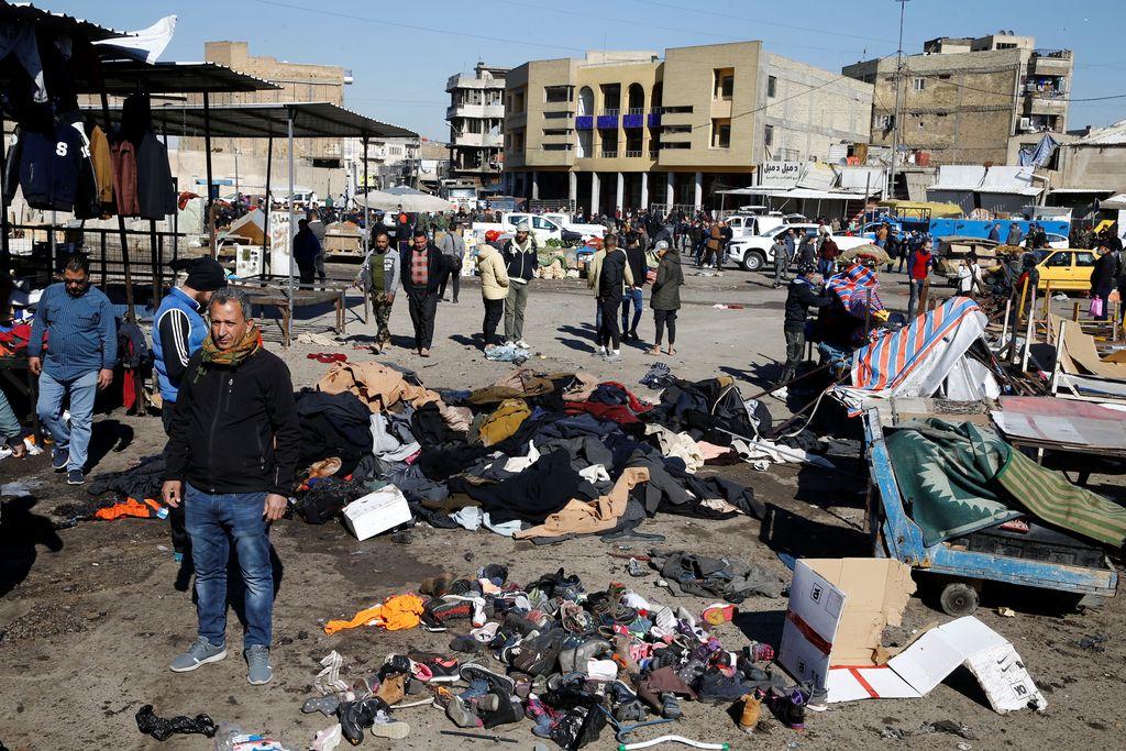 Bagdadin tuhoisan kaksoisitsemurhaiskun tekijäksi ilmoittautui terroristijärjestö Isis.