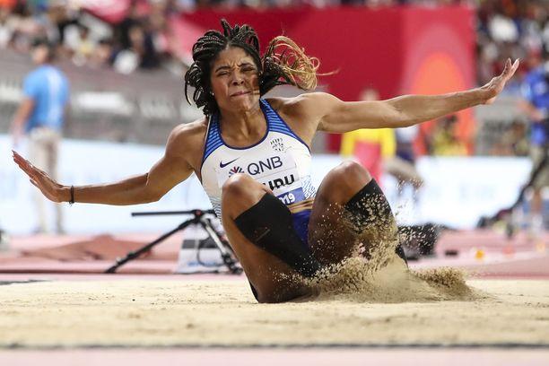 Abigail Irozuru leiskautti seitsemänneksi viime kaudella Dohan MM-kisoissa.
