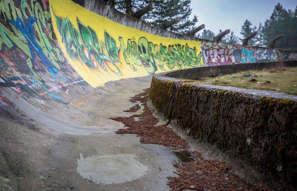 Graffitimaalarit ovat löytäneet kelkkaradan.