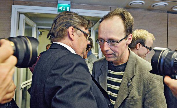 Ulkoministeri, perussuomalaisten puheenjohtaja Timo Soini ja europarlamentaarikko Jussi Halla-aho.
