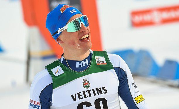 Iivo Niskasen voittoaika viidelläkympillä oli 2.13.18,3.