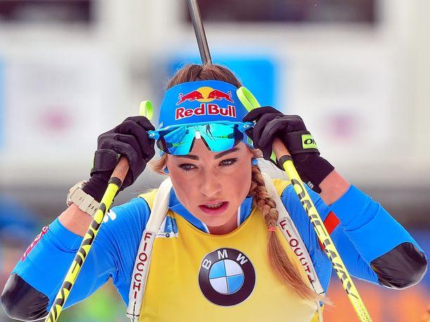 Dorothea Wierer ei päässyt juhlimaan kunnolla maailmancupin voittoaan.