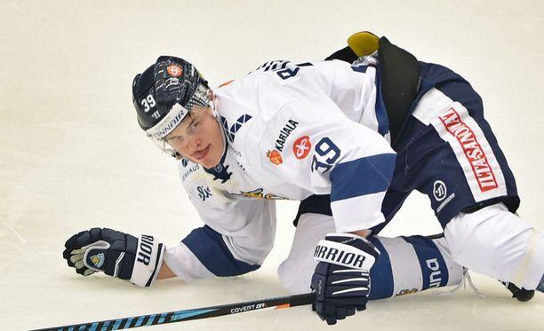 Jesse Puljujärvi pääsee irti maanantai-illan Tshekki-ottelussa.