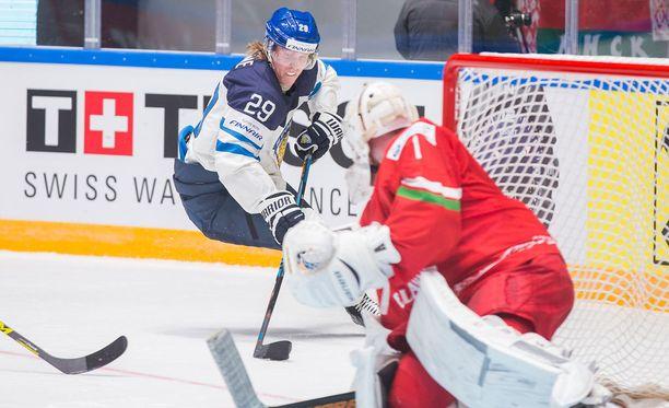 Patrik Laine tuhosi Valko-Venäjän.