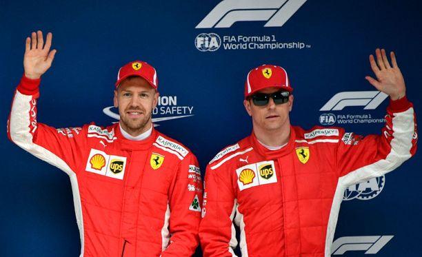 Sebastian Vettel ja Kimi Räikkönen ovat hyviä kavereita keskenään.
