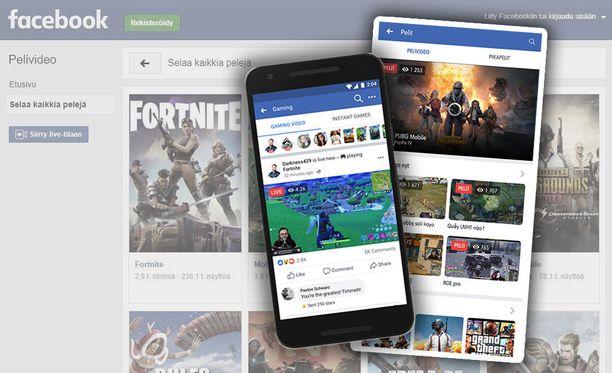 Facebook avasi uuden pelivideo-palvelun.