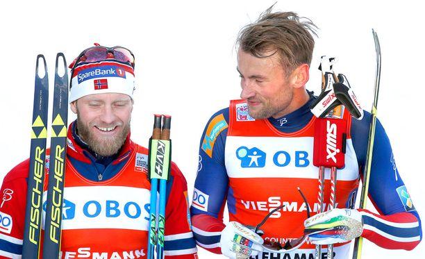 Martin Johnsrud Sundby ja Petter Northug ovat olleet viime vuosina Norjan kovimmat mieshiihtäjät.