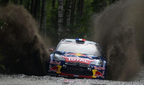 Sebastien Loeb ajoi ralleissa Citroen DS 3 WRC -autolla.