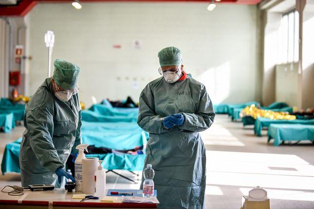 Pohjois-Italian sairaalat ovat täyttyneet koronapotilaista.