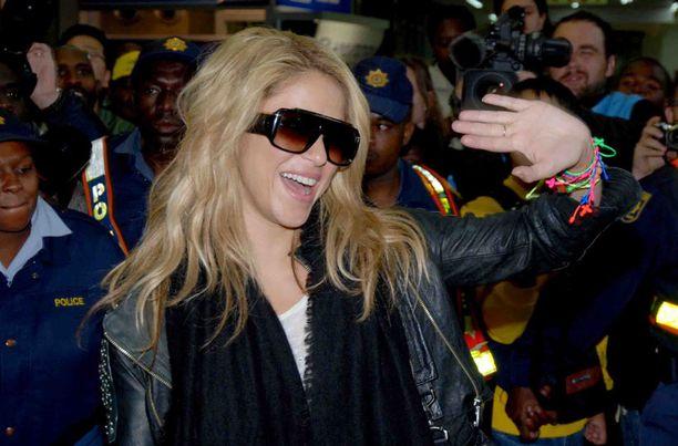 Shakira saapui eilen Etelä-Afrikkaan.