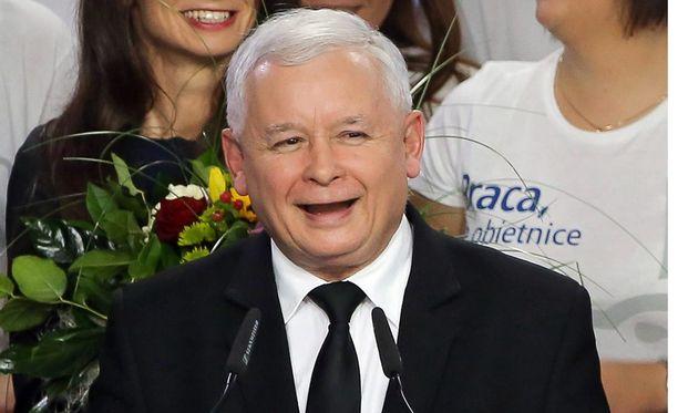 Jaroslaw Kaczynskin puolue Laki ja oikeus sai Puolan vaaleissa 39,1 prosenttia äänistä.