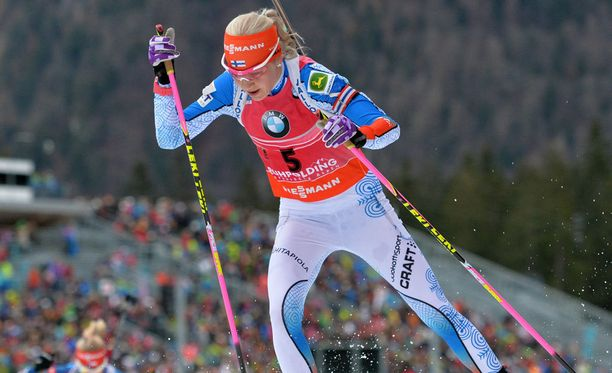 Kaisa Mäkäräinen hiihti kakkoseksi Ruhpoldingin maailmancupissa.