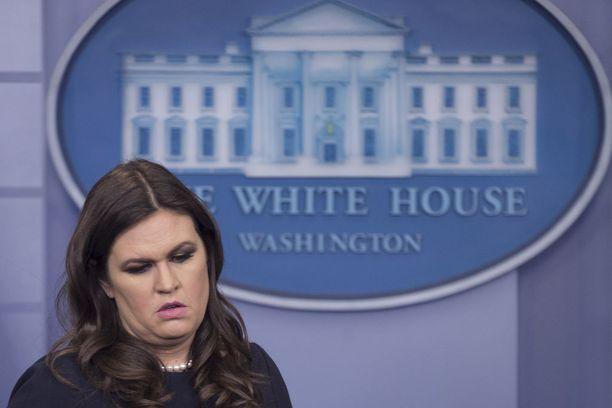 Sarah Sanders, 35, aloitti Valkoisen talon lehdistösihteerinä tänä vuonna.