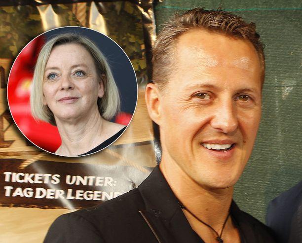 Michael Schumacherin manageri Sabine Kehm (vasemmalla) selvittelee Bunte-lehden mukaan konsultin kanssa syntynyttä riitaa.