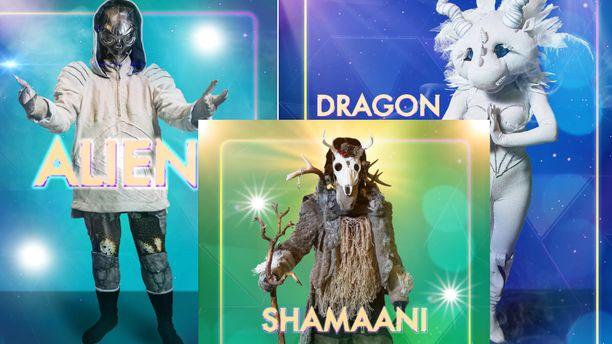 Masked Singer Suomi -hahmojen henkilöllisyys on paljastunut jo kolmen hahmon osalta.