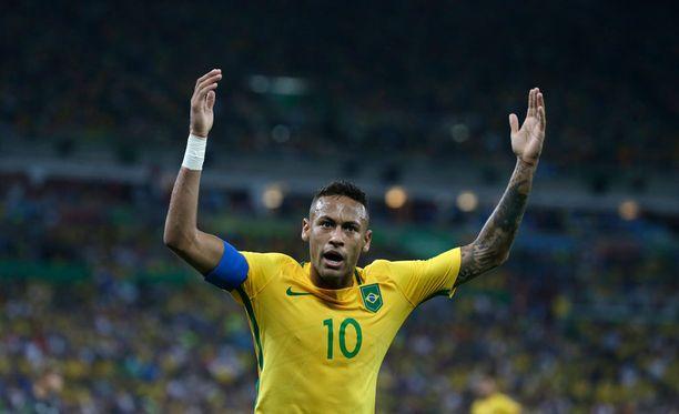 Neymar sai kunnian ratkaista Brasilialle sen ensimmäisen olympiakullan.