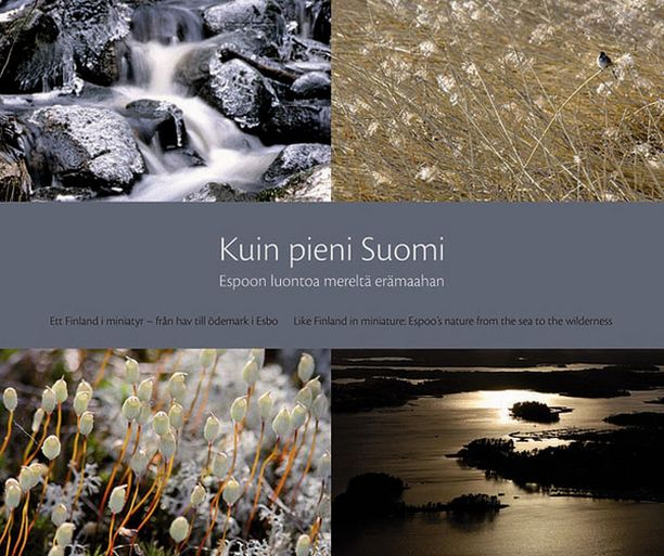 Espoon juhlavuoden luontokirja luottaa vahvasti kuviin. Teksti rajoittuu lähinnä kuvateksteihin.