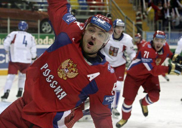 Uraa! Andrei Markov tuulettaa avausmaaliaan.