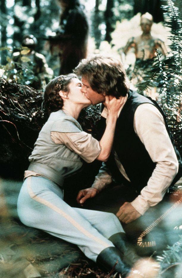 Fisher ja Ford vuonna 1983 Jedin paluu -elokuvassa.