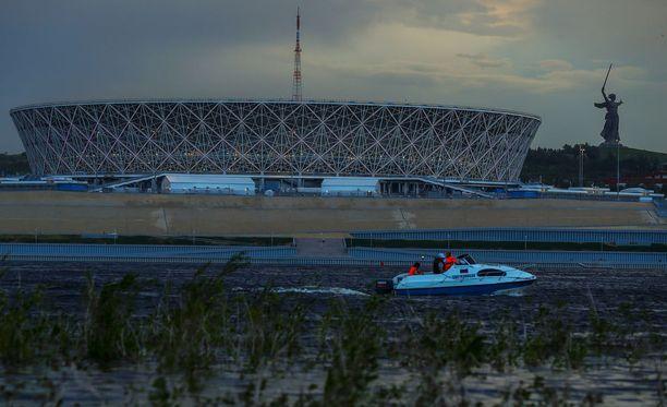Yli 200 miljoonaa euroa maksanut Volgograd Arena valmistui juuri MM-kisojen alla.