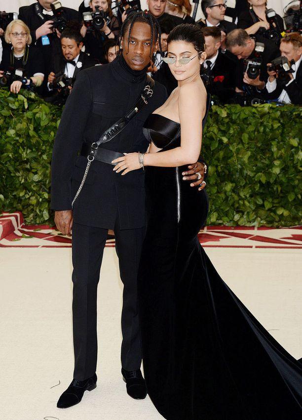Räppäri Travis Scott ja Kylie Jenner ovat seurustelleet huhtikuusta 2017.