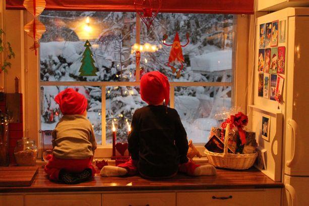 5. Joulupukin odotus.