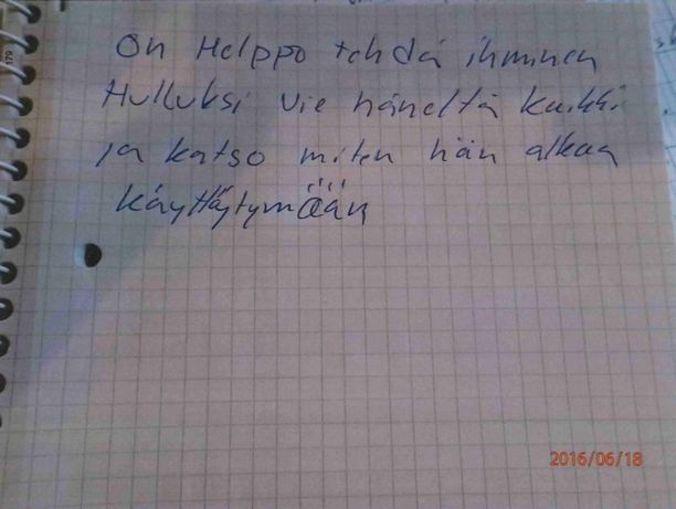 Poliisi löysi erikoisen viestin Jorma Nyforsin työhuoneesta ampumisen jälkeen.