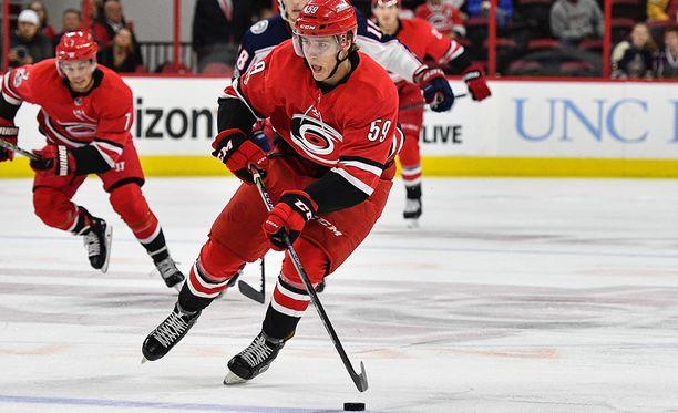 Janne Kuokkanen pelasi viime kaudella neljä NHL-ottelua.
