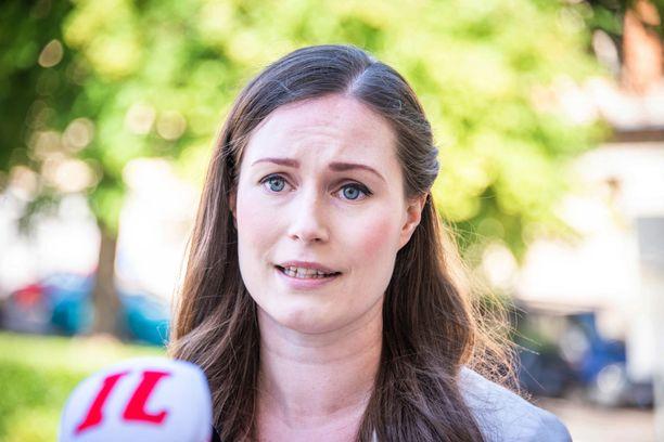 Pääministeri Sanna Marin (sd) Iltalehden haastattelussa kesäkuussa.