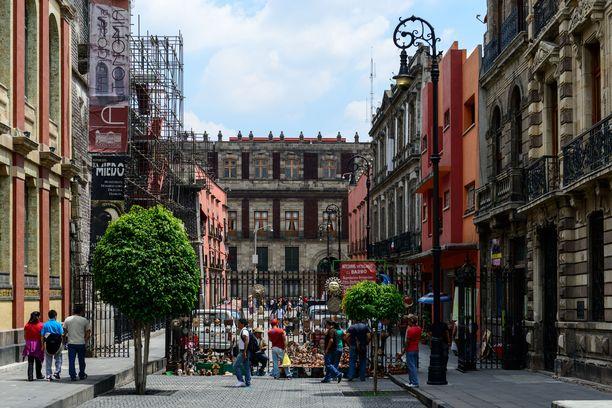 Mexico Cityn vanhassakaupungissa on kauniita siirtomaa-aikaisia rakennuksia.