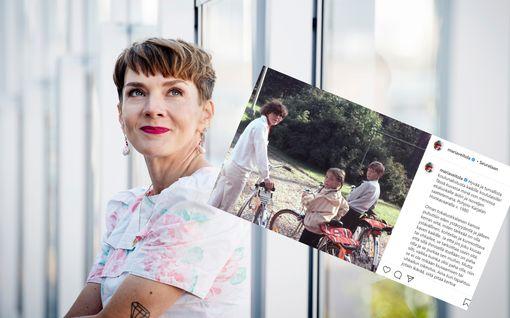 Julkisuudesta tutut saattelevat lapsiaan koulutielle – Maria Veitola julkaisi nostalgisen kuvan 80-luvulta: Tältä näyttivät äiti ja veli