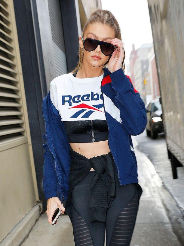 Gigi Hadid tykkää sporttivaatteista.