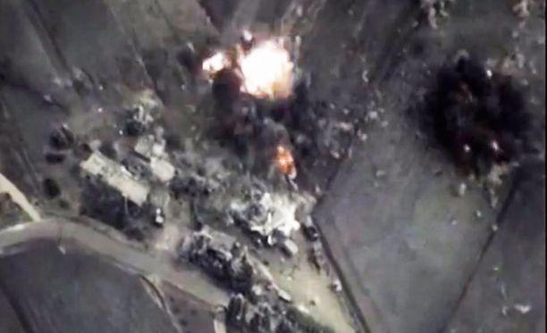Venäjän ilmaiskut Syyriassa ovat tappaneet myös siviilejä.