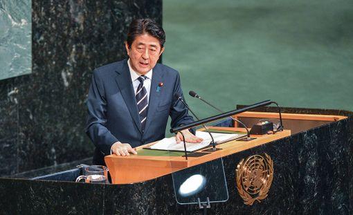 Japanin pääministeri Shinzo Abe.