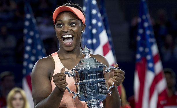 Sloane Stephens voitti Yhdysvaltain naisten kaksinpelin avoimen tennisturnauksen Arthur Ashe Stadiumilla.