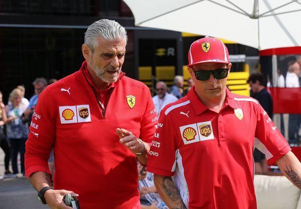 Maurizio Arrivabene antoi Kimi Räikköselle ikäviä uutisia Monzan GP:n alla.