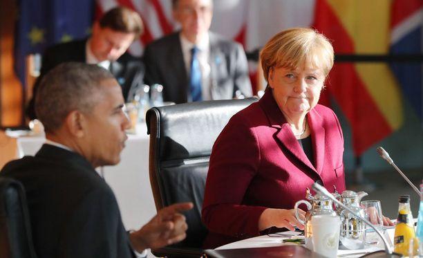 Liittokansleri Angela Merkel ja väistyvä presidentti Barack Obama tapasivat perjantaina Berliinissä.