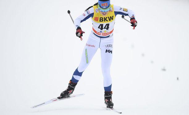 Krista Pärmäkoski taisteli sunnuntaina kolmanneksi, vaikka koki pieniä terveysmurheita.