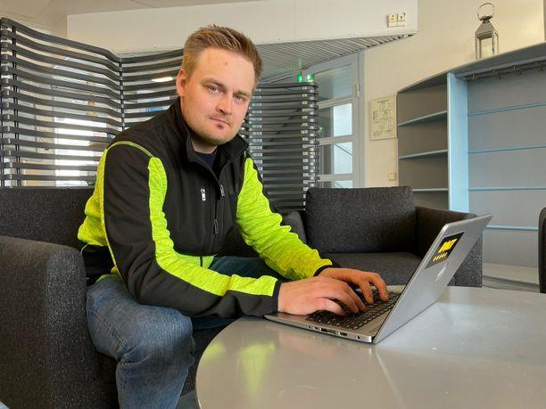 Joonas Rinne huolehtiin Boltin Kemi-Tornion alueen tekijöistä ja asiakkaista.