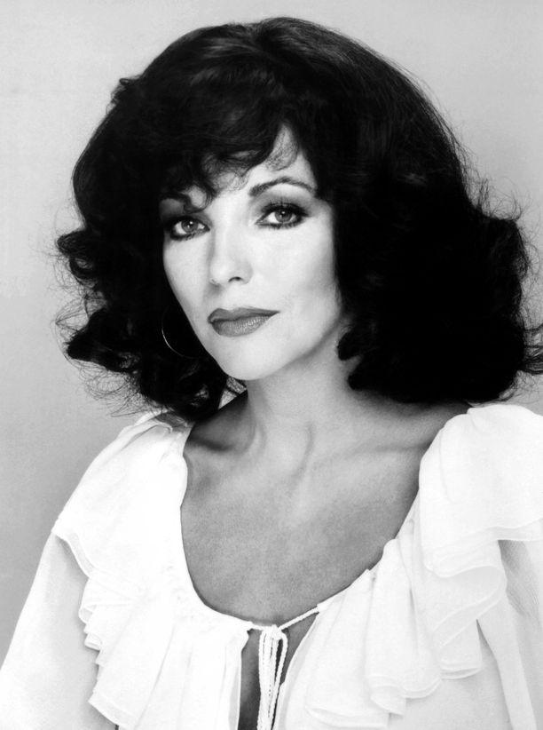 Joan Collins rakasti isoa tukkaa kasarilla.