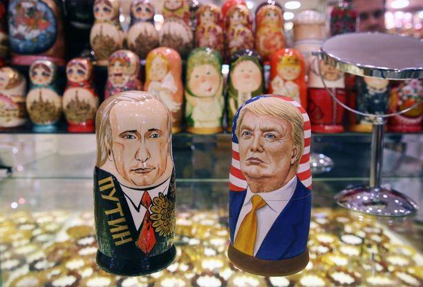 Putin ja Trump-nukkeja löytyy jo Moskovan kaupoista.
