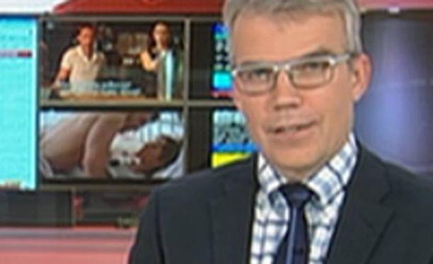 Rohkea kohtaus näkyi uutislähetyksessä aivan Kymmenen Uutisten loppupuolella.